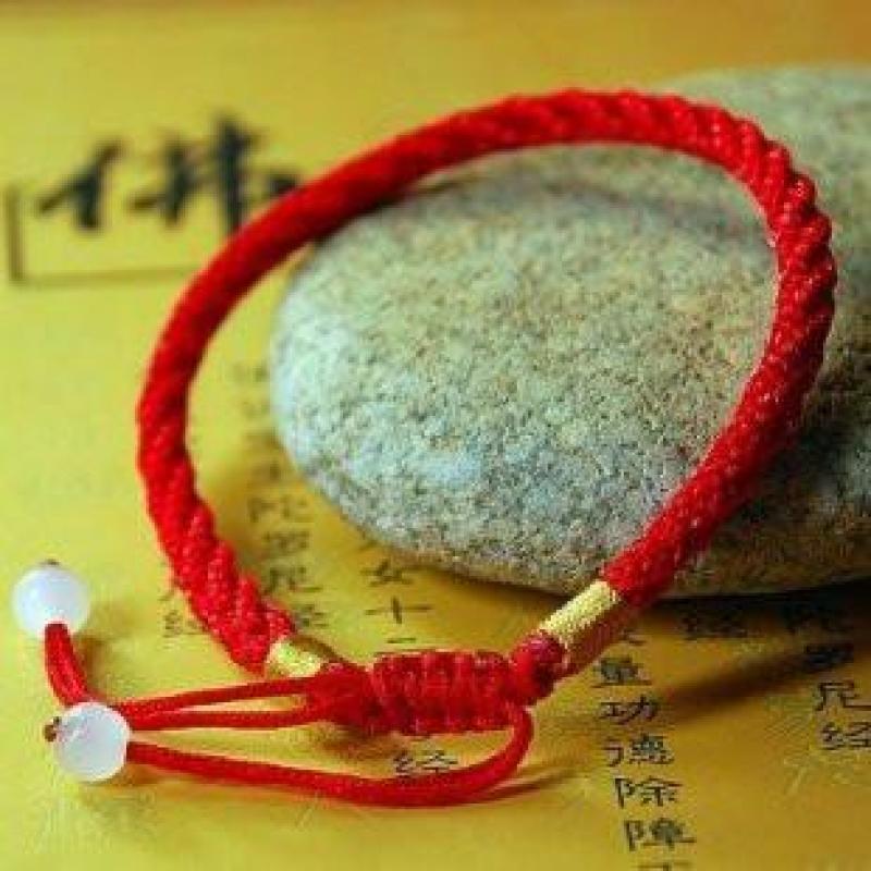 迈姿原创纯手工民族风饰品本命年开运红线编织手链 情侣