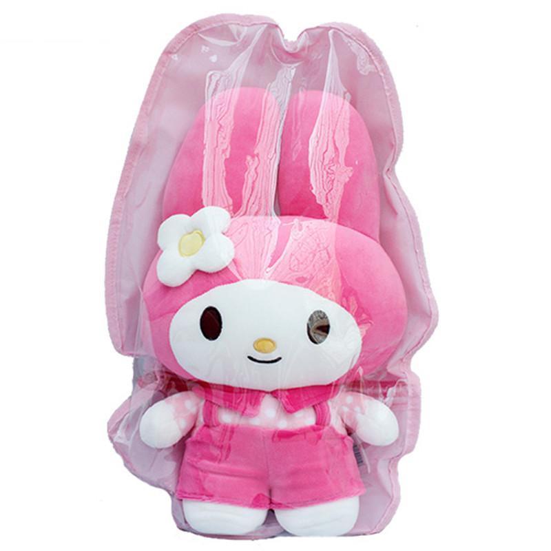 凯佩珑情侣小可爱美乐蒂兔子公仔毛绒玩具纳米泡沫粒子 兔兔玩偶压床