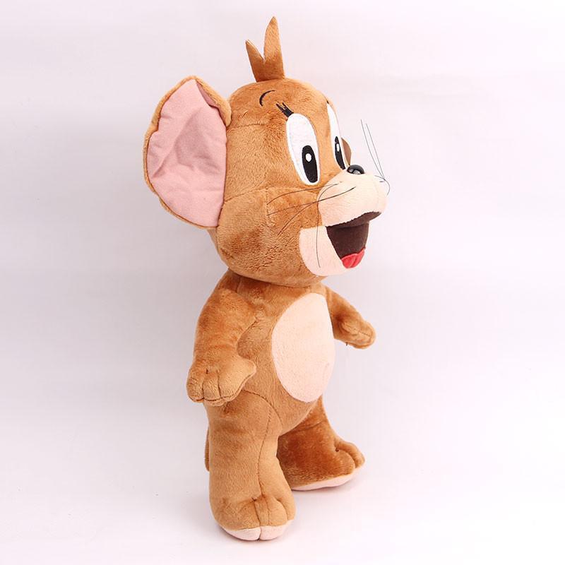 宝诚达 新品可爱汤姆猫杰瑞鼠毛绒玩具公仔猫布娃娃儿童礼物 站姿鼠50