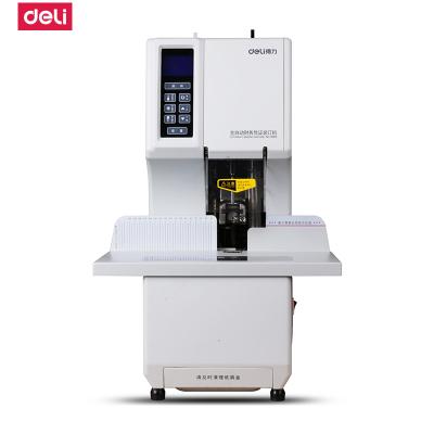 得力(deli)3884財務裝訂機一鍵式檔案全自動裝訂機激光定位熱鉚管裝訂機