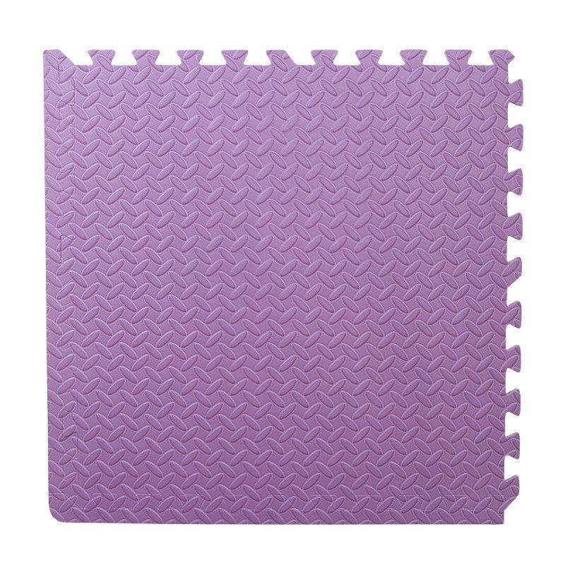 儿童拼图泡沫地垫60x60拼接铺地板垫子大号加厚 (叶子纹路紫色单片)