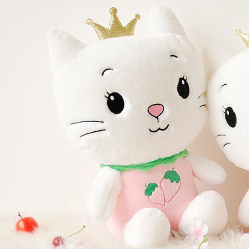 可爱angle cat sugar天使猫毛绒玩具小猫咪公仔皇冠水果猫玩偶节日