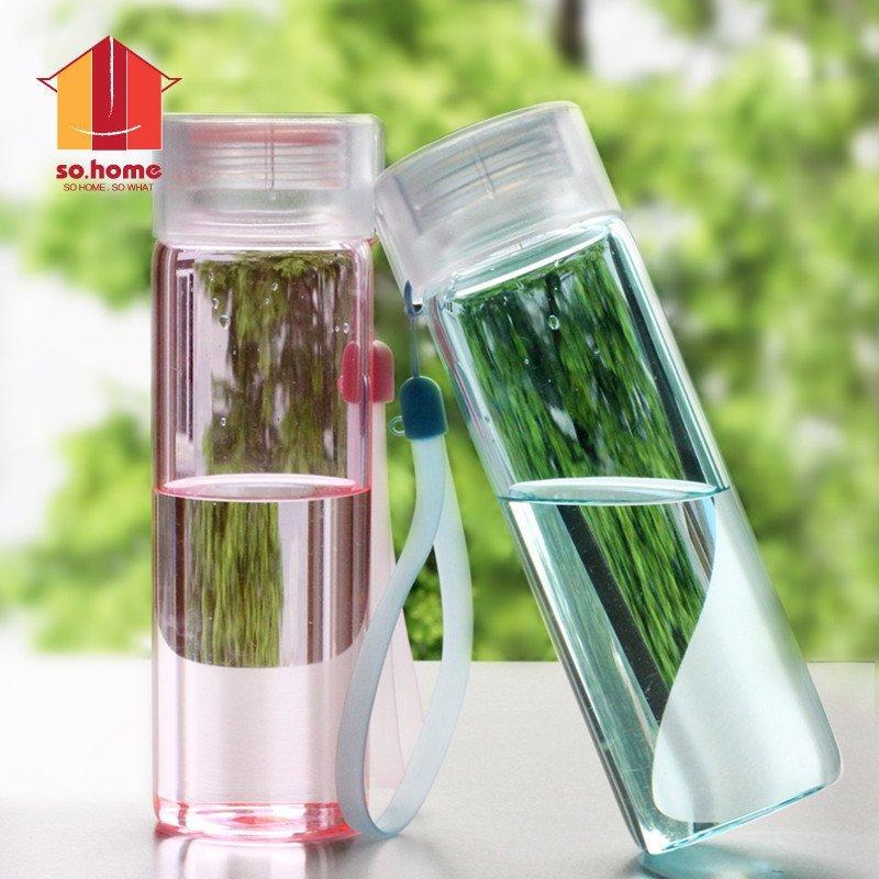 sohome 玻璃杯带盖便携创意水杯可爱学生杯子女士办公
