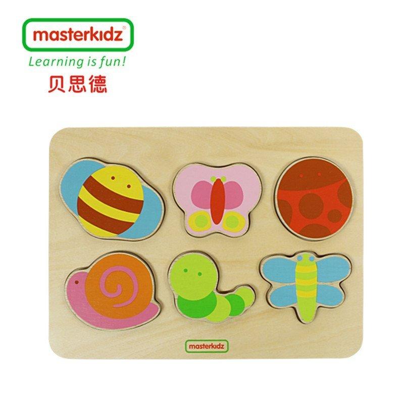 masterkidz贝思德 动物水果木块拼图