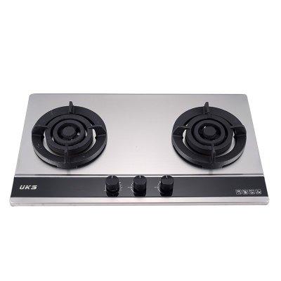 德国UKS厨卫电器304不锈钢机身燃气灶具JZT-S037