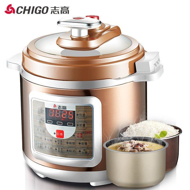 志高(CHIGO)ZG-419D 电压力锅4L智能电脑版 一锅双胆 24小时预约