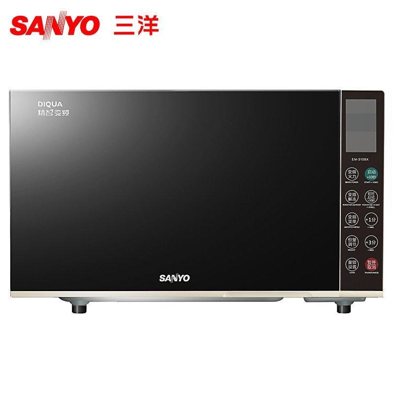三洋(SANYO) 微波炉 EM-310BX 平板 23L 不锈钢内胆 微电脑 变频