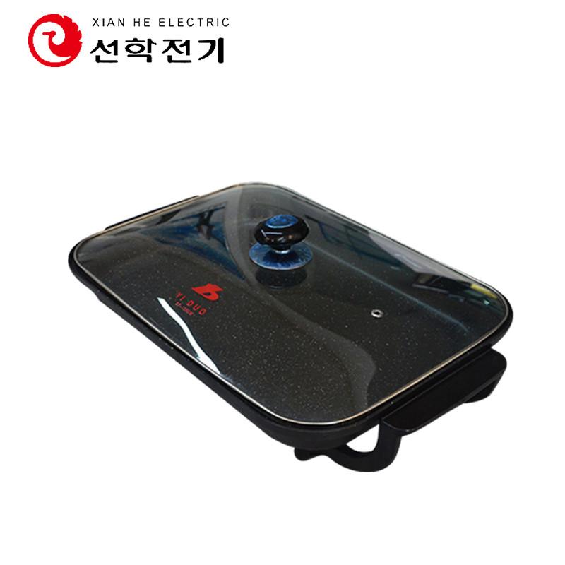 仙鹤电烤盘SF-1350WTG韩式无烟不粘家用麦饭石电烤盘电烧烤炉