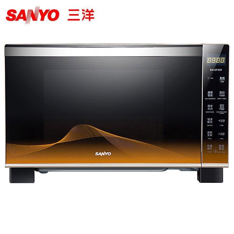 三洋(SANYO) 微波炉 EM-GF600 平板 25L 微电脑 烧烤 WIFI云波炉