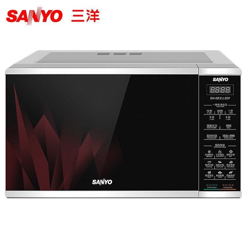 三洋(SANYO) 微波炉 EM-GF2112EP 平板 21L 微电脑 烧烤