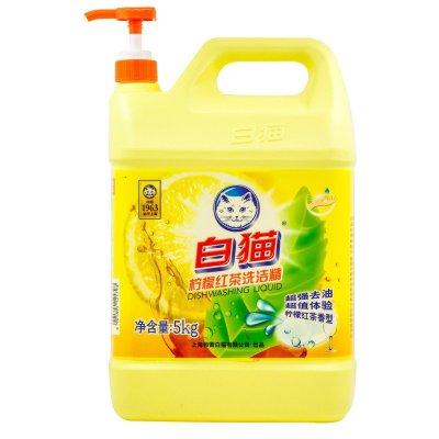 白猫 柠檬红茶洗洁精5kg 去油新体验 无磷环保 无残留 柠檬红茶香型