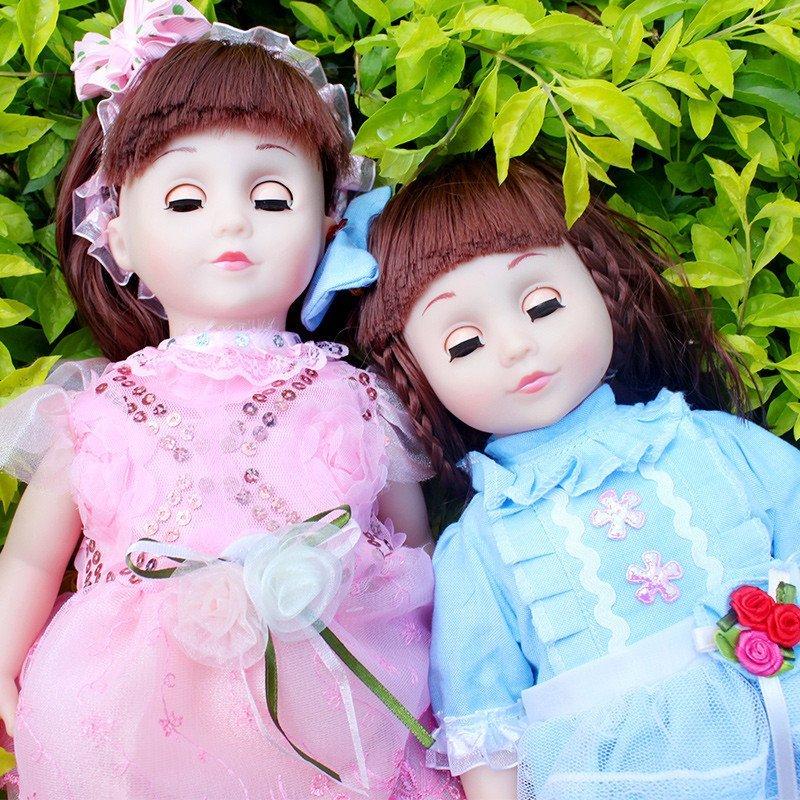 会说话的智能娃娃对话芭比娃娃套装眨眼会走路女孩玩具仿真洋娃娃妮妮