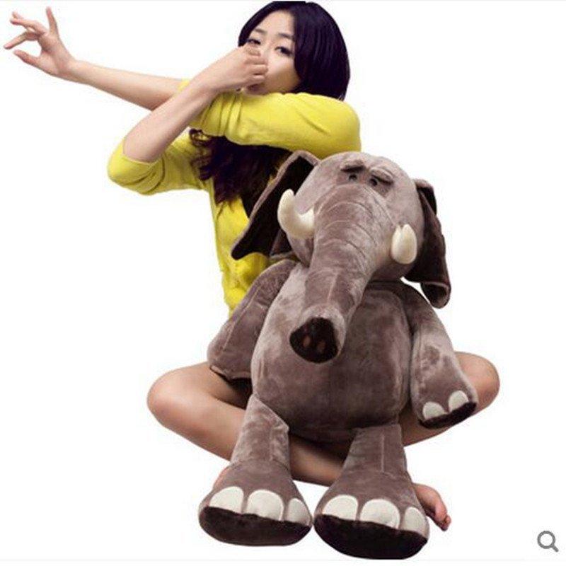 可爱卡通大象 公仔毛绒玩具 发财象抱抱象 森林象 儿童礼物 35cm 如图