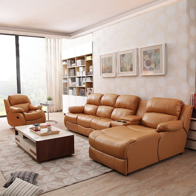 陆虎 真皮沙发 组合 功能沙发 小户型 芝华士头等舱新款 皮艺沙发