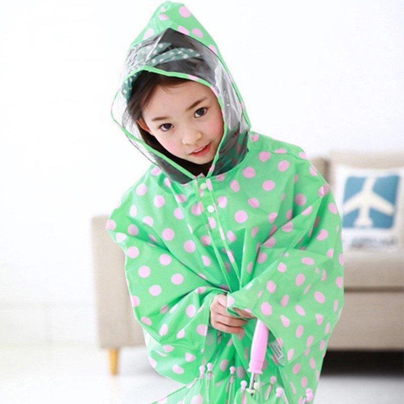 韩国儿童雨衣女学生可爱公主宝宝雨衣小孩雨披幼儿雨衣 kq201503 ps