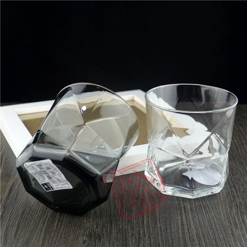 玻璃杯茶杯个性口杯耐热透明创意家用玻璃水杯情侣杯子 黑白配