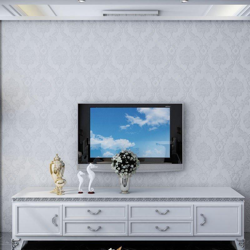 紫荆花 3d立体欧式无纺布墙纸 客厅电视背景墙卧室壁纸图片