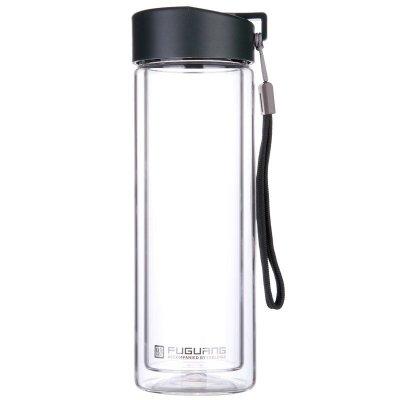 ?#36824;?#22823;容量双层玻璃杯...