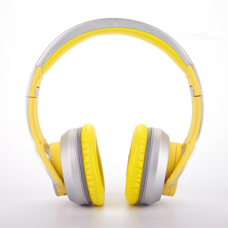 赛尔贝尔(SYLLABLE) G800-005 头戴式蓝牙4.0耳机 重低音双重降噪 柠檬黄色