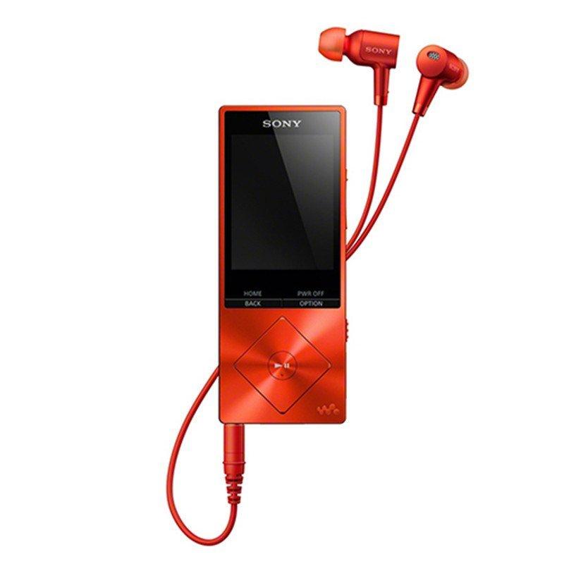 索尼(SONY)高解析度音乐播放器NW-A25HN(朱砂红色) 数字降噪 MP4音乐播放器 16GB