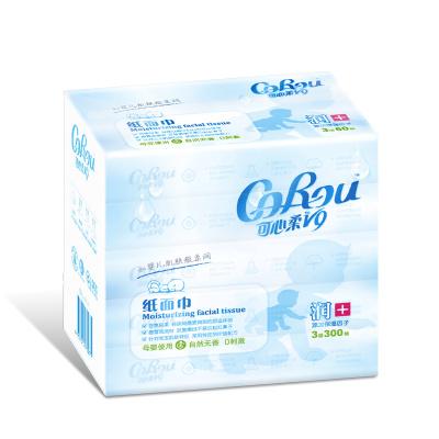 可心柔 润+系列 婴幼儿专用抽纸 3层 60片/包*5包装 母婴纸巾