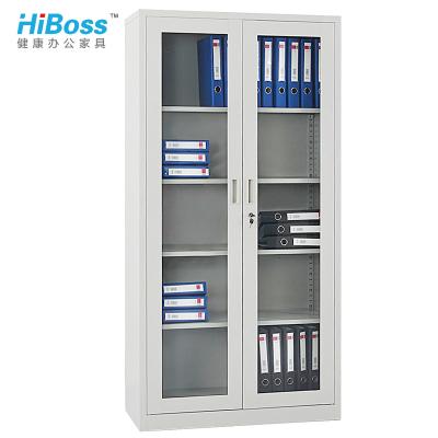 HiBoss 文件柜 玻璃开门柜铁皮柜钢制档案柜办公柜子