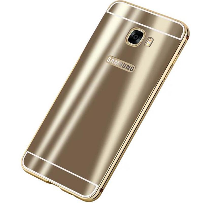 安美宝 三星c5/c7手机壳超薄金属壳galaxy c5000边框后盖防摔c7保护套