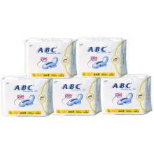 ABC日用卫生巾 亲柔立围轻透薄棉柔240mm*8片 (含KMS健康配方)