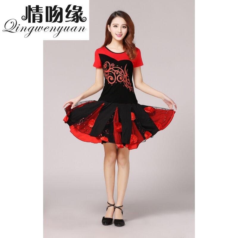 广场舞服装短袖套装春秋表演演出服装跳舞衣服y1011480069116335 5xl图片