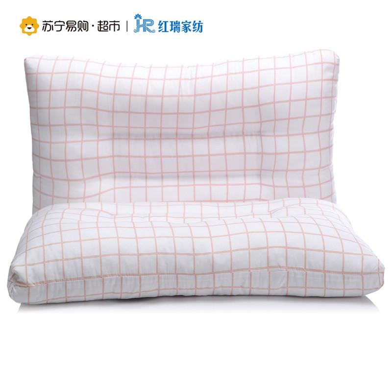 红瑞家纺 时尚枕芯系列 羽丝绒高回弹枕芯枕头 45*70cm 时尚-蓝