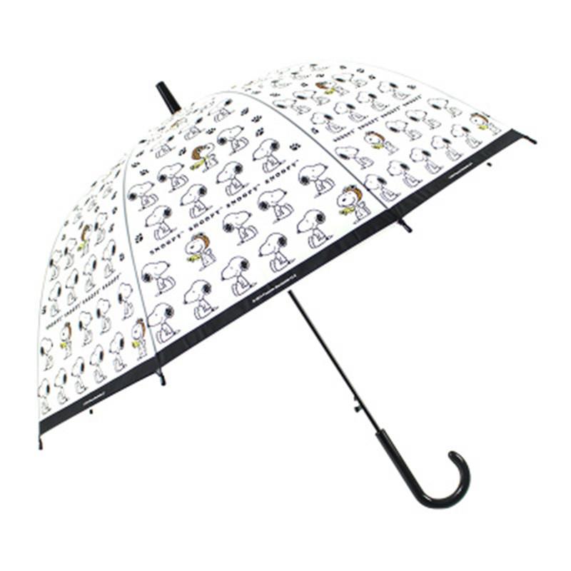 清新自动加厚透明雨伞 创意拱形伞女生长柄晴可爱鸟笼