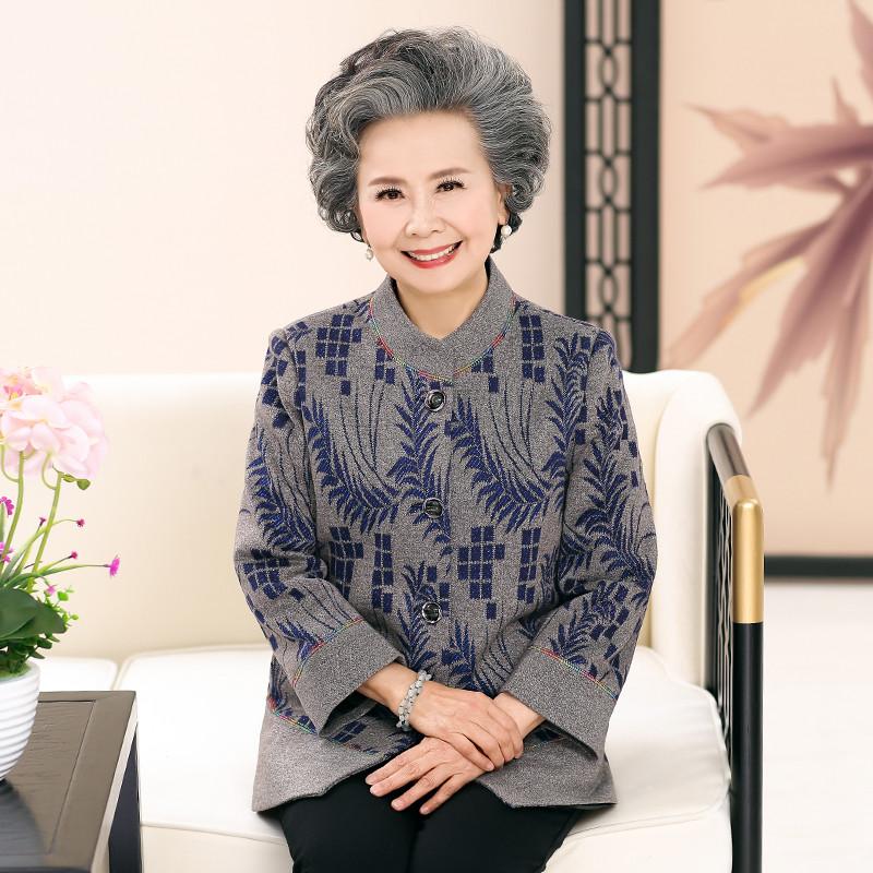 2017老年人春装新款女装妈妈装上衣60-70-80岁老太太衣服老奶奶外套女