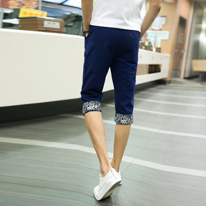 卷边男休闲长裤