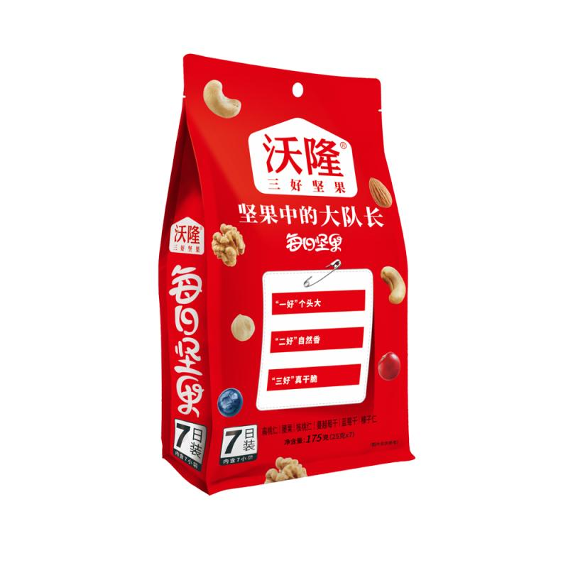 �9�g������B#��G�7�����R�_沃隆 每日坚果(b )175g 袋装 25g*7 混合坚果 果仁 办公室休闲零食