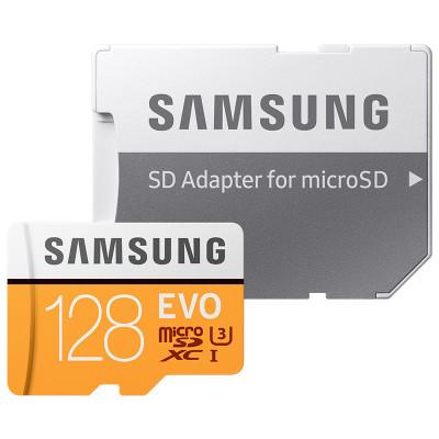 三星(SAMSUNG) microSD存储卡+SD适配器128G Class10 UHS-1 传输100MB/s 升级版