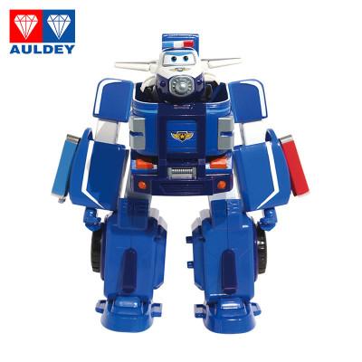 AULDEY奧迪雙鉆超級飛俠載具系列機器人套裝包警長男孩女孩動漫玩具3歲以上