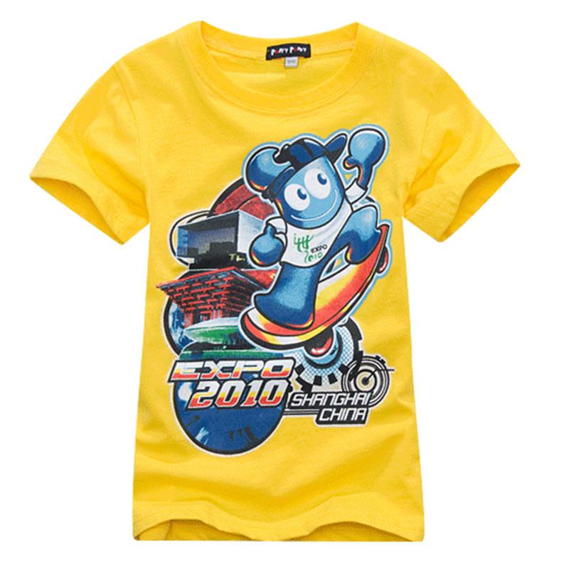 帕菲puffypuppy ppxz01e01 儿童体恤 夏装男童短袖t恤