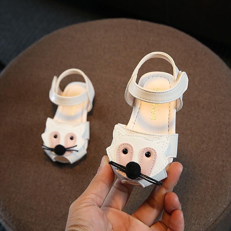 夏季宝宝鞋子1-3岁女童公主凉鞋软底婴儿学步鞋可爱卡通童鞋116t2914
