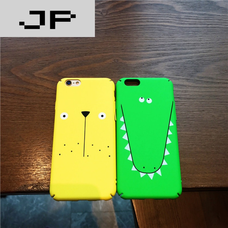 jp潮流品牌可爱鳄鱼苹果7手机壳7plus磨砂套iphone6s全包硬壳6plus