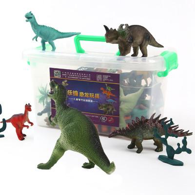 乐缔LERDER儿童恐龙玩具套装动物模型玩具霸王龙大无恐龙蛋3-6周岁24个恐龙+1个大霸王龙+6个树+恐龙书+收纳盒