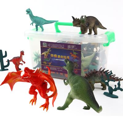 乐缔LERDER儿童恐龙玩具套装动物模型玩具霸王龙恐龙蛋24个恐龙+1大霸王龙+1大火翼龙+6个树+书+收纳盒