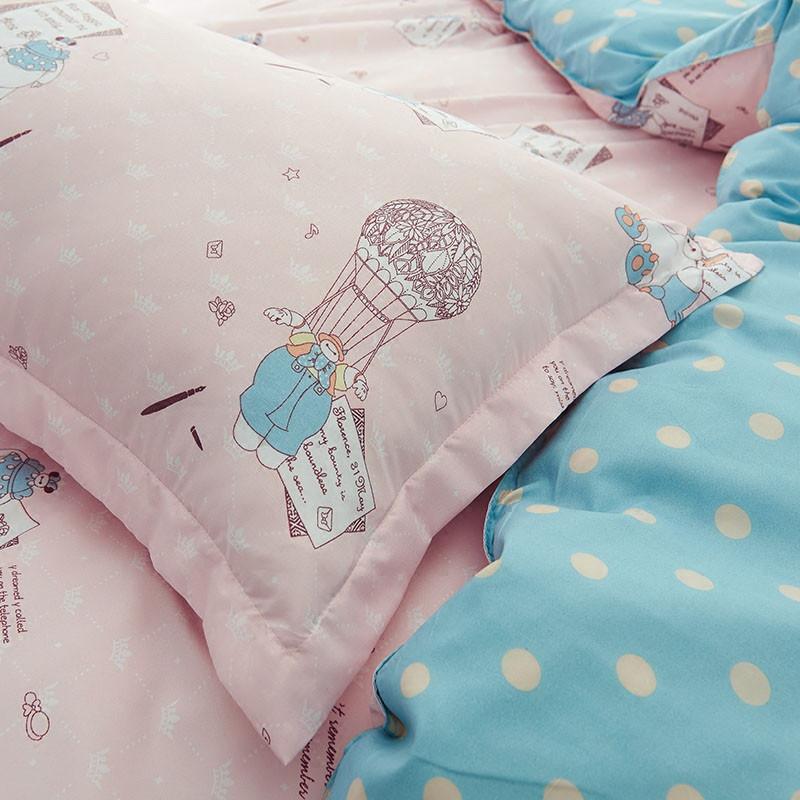 2017年韩式小清新床上用品被套四件套 可爱公主风大学