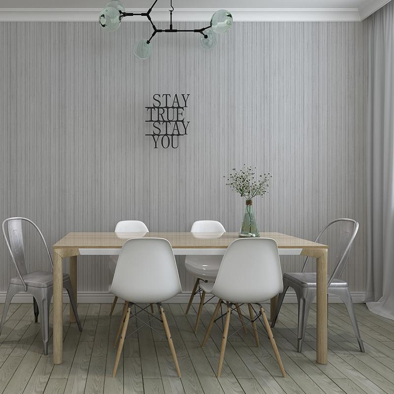 现代简约素色墙纸卧室无纺布纯色壁纸 客厅电视背景墙壁纸 浅灰色