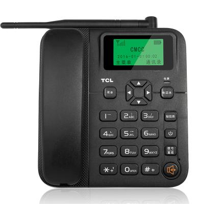 TCL GF100暢聯電話機座機鐵通聯通座機卡移動聯通手機SIM卡來電顯示大音量家用辦公固定插卡電話(黑)