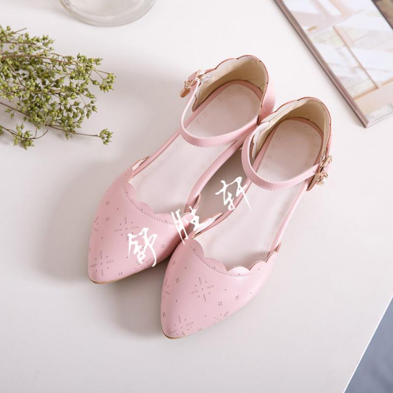 2017夏季新款儿童凉鞋包头女童高跟鞋中大童9-10-11-12岁公主鞋