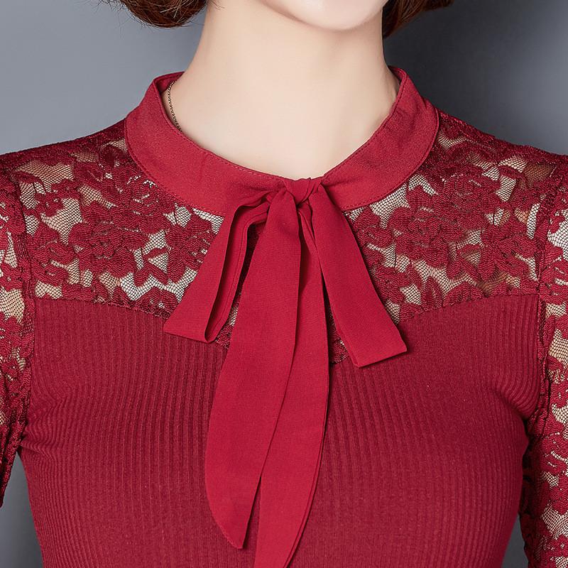蕾丝打底衫纱衣