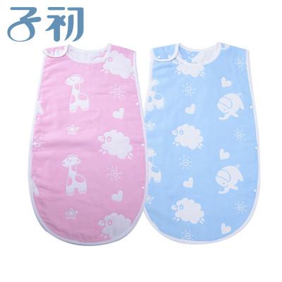 子初 嬰兒6層棉紗睡被 M碼35*58CM L碼40*65CM 藍色/粉紅色 兩色可選 嬰兒睡袋