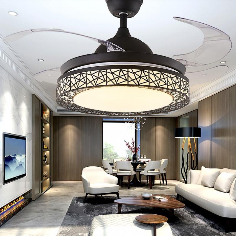 宝扇 隐形吊扇灯客厅卧室餐厅电扇风扇灯简约现代鸟巢