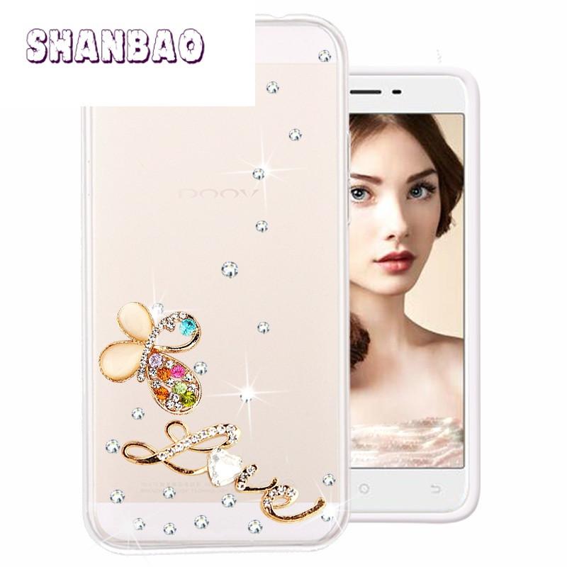shanbaodoov朵唯l5手机套l5plus手机壳l5保护套防摔硅胶水钻 追寻水钻