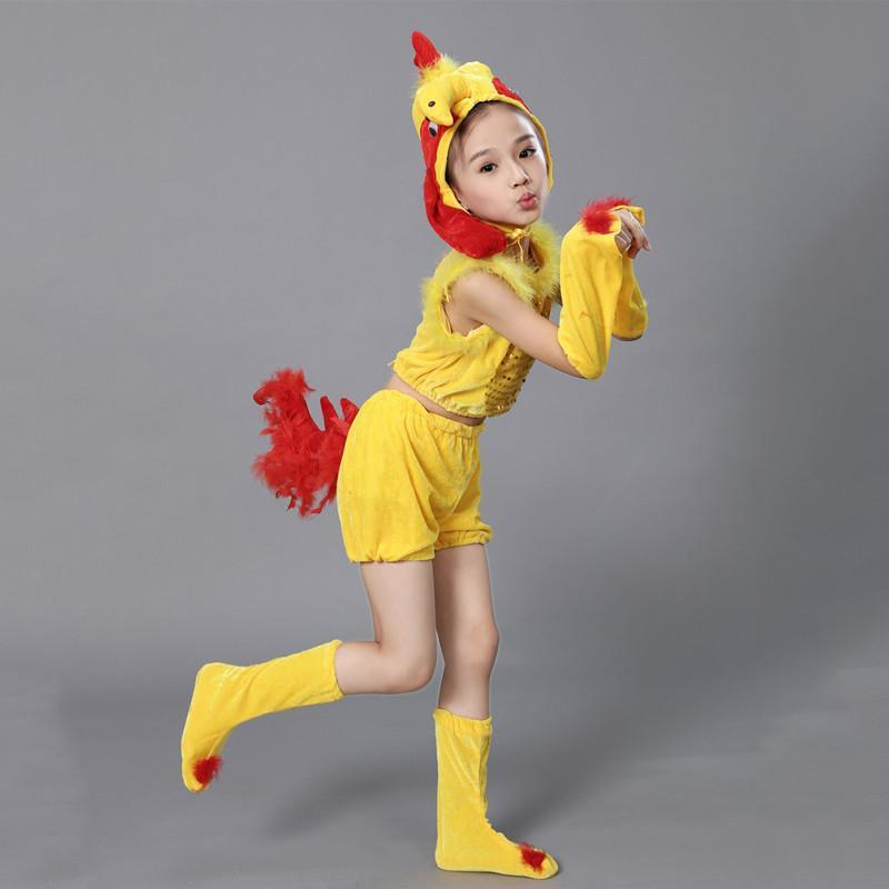 六一儿童节演出服儿童舞蹈服装动物小鸡表演服幼儿小鸡卡通_1 110cm
